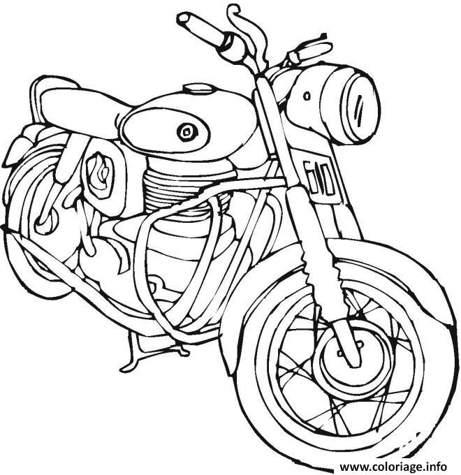 Coloriage Moto De Course 6 dessin