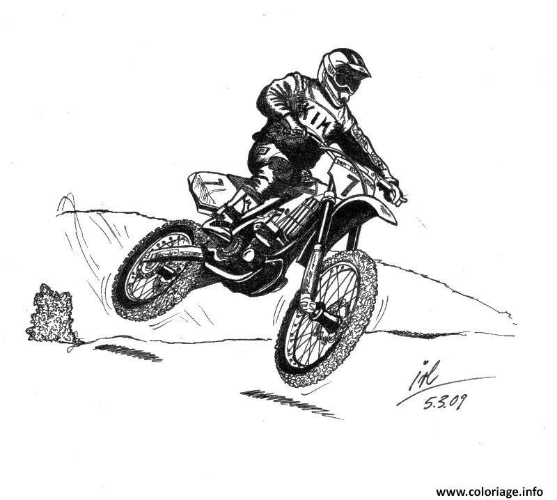 Coloriage Motocross 18 Dessin