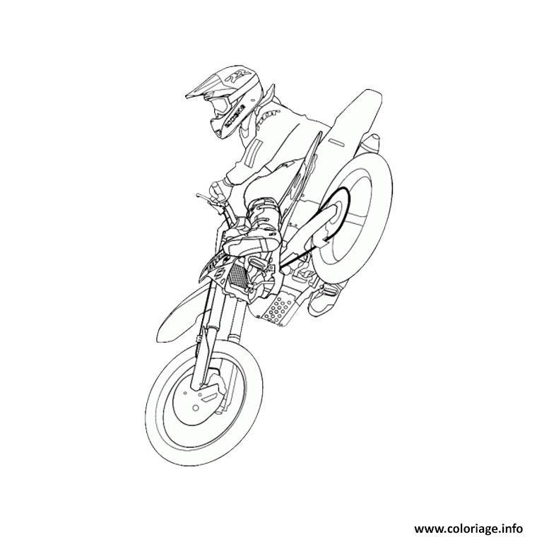 Coloriage moto de course 16 dessin - Dessin moto a colorier ...