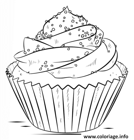 Coloriage cupcake chocolat dessin for Sweet treats coloring pages