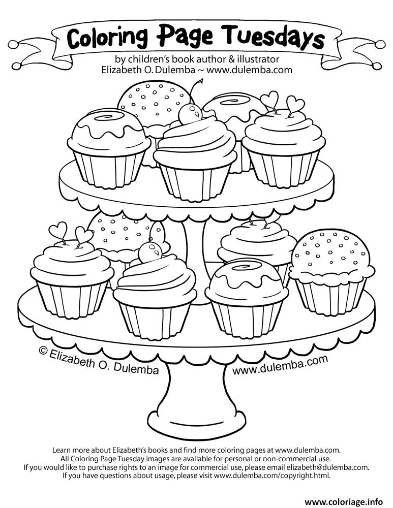 Coloriage cupcakes coloring pages 125 dessin - Coloriage cupcake ...