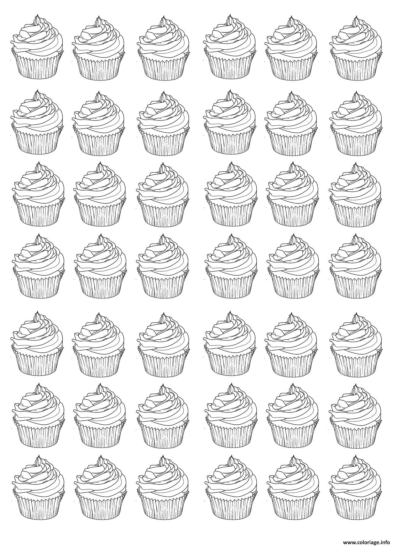 coloriage cupcakes adulte warhol difficile. Black Bedroom Furniture Sets. Home Design Ideas