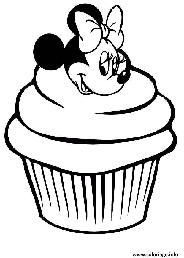 Coloriage minnie mouse cupcake disney - Dessins de minnie ...