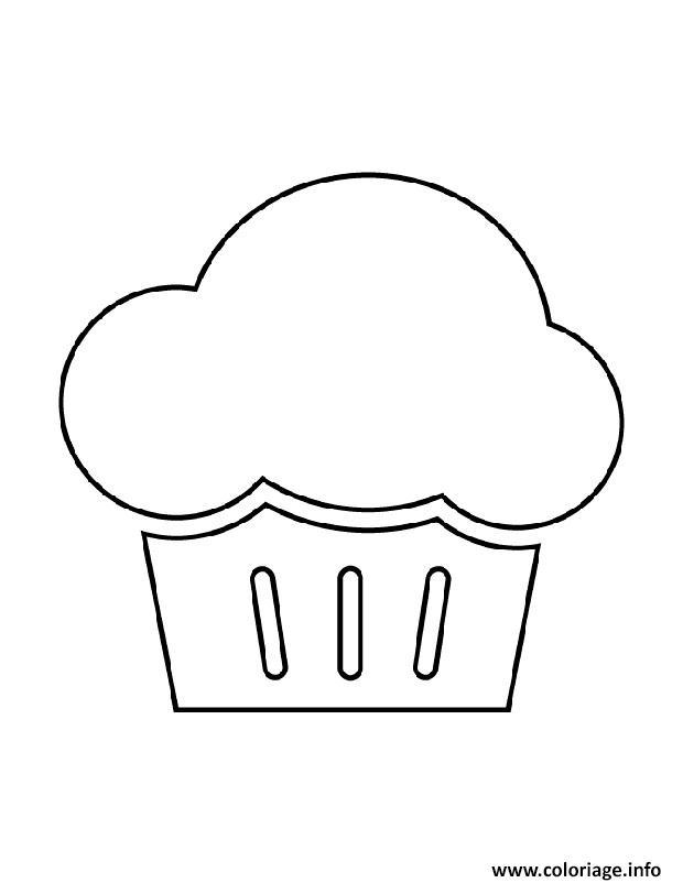 Dessin cupcake gonfle Coloriage Gratuit à Imprimer