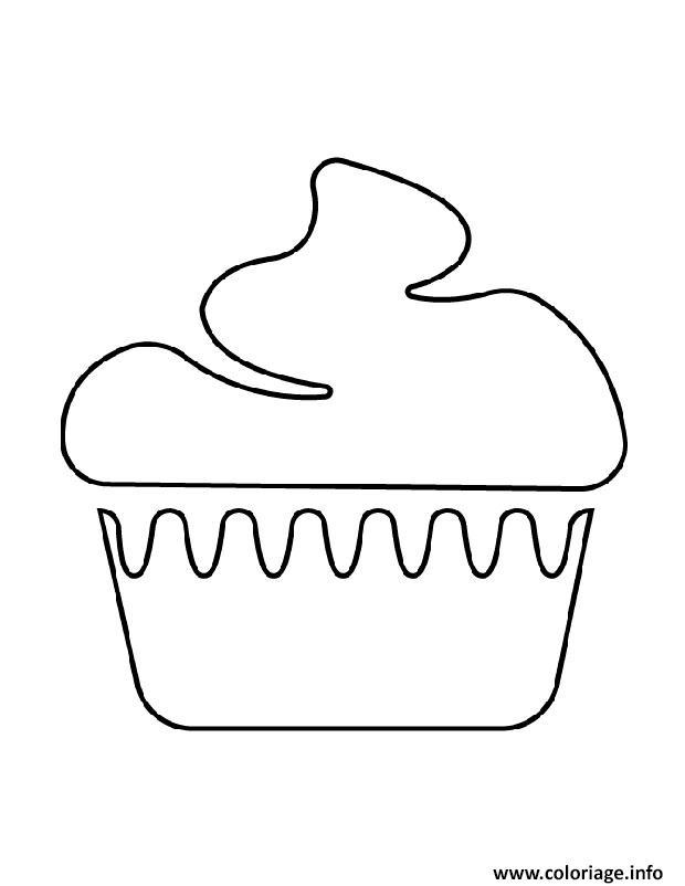 Coloriage Cupcake Jolie Dessin