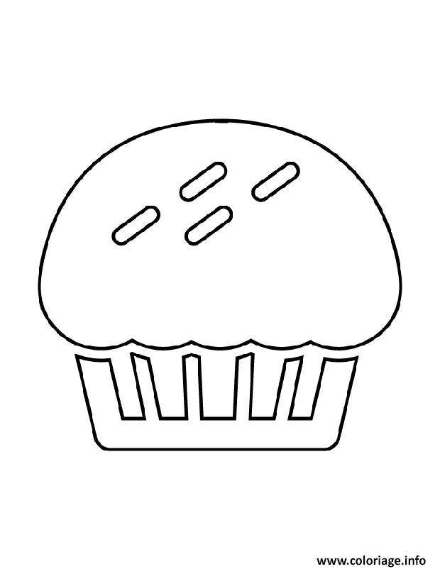 Coloriage Cupcake Encore Jecoloriecom