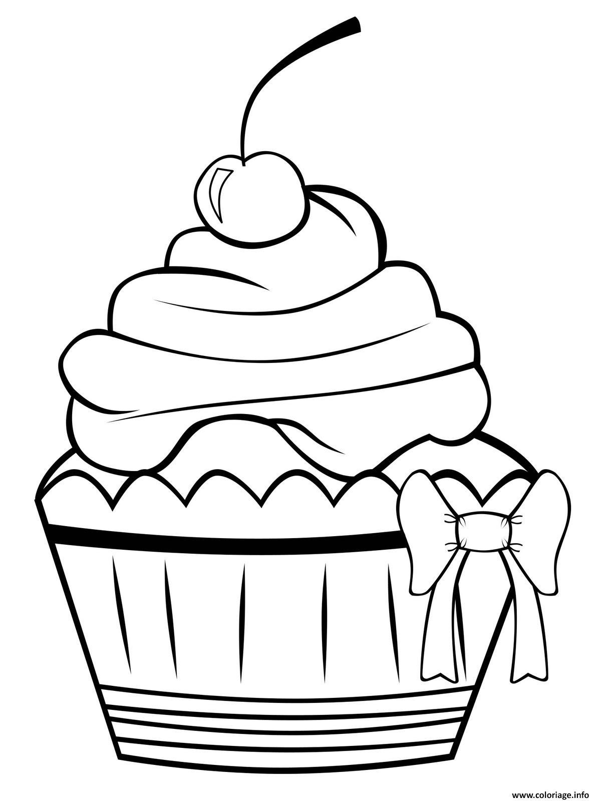 Dessin cupcake vintage original classic basic4 Coloriage Gratuit à Imprimer