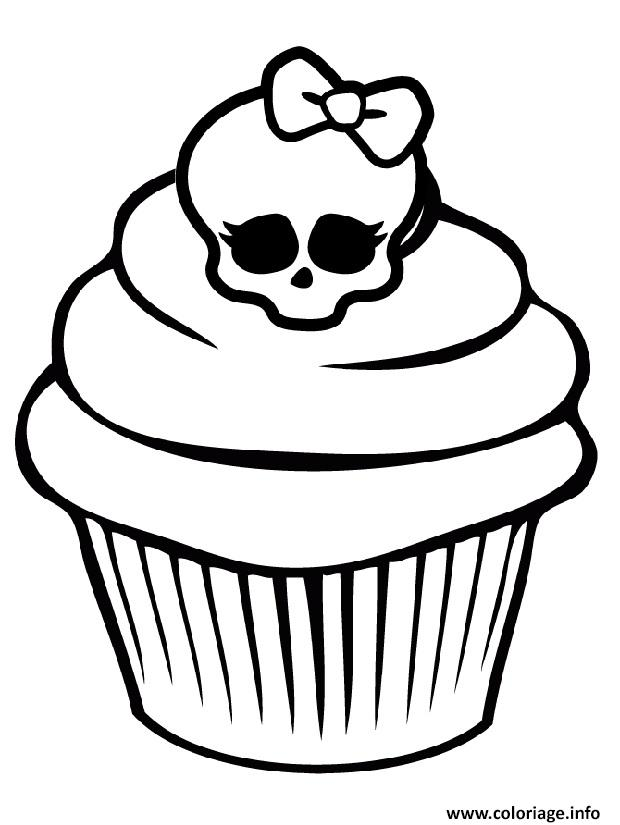 Coloriage monster high cupcake dessin - Comment dessiner une monster high ...