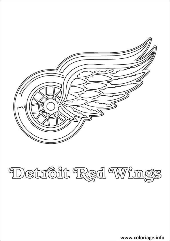 Coloriage detroit red wings logo