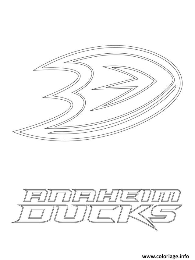 hockey coloring pages ducks - photo#3