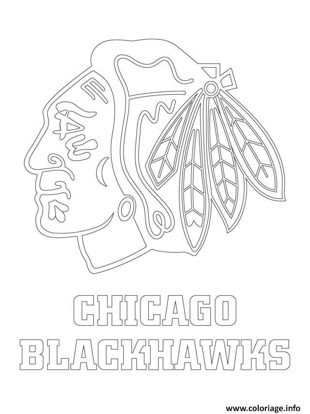 Coloriage Chicago Blackhawks Logo Lnh Nhl Hockey Sport1 Dessin