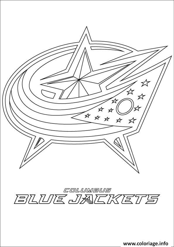 Coloriage Columbus Blue Jackets Logo Lnh Nhl Hockey Sport
