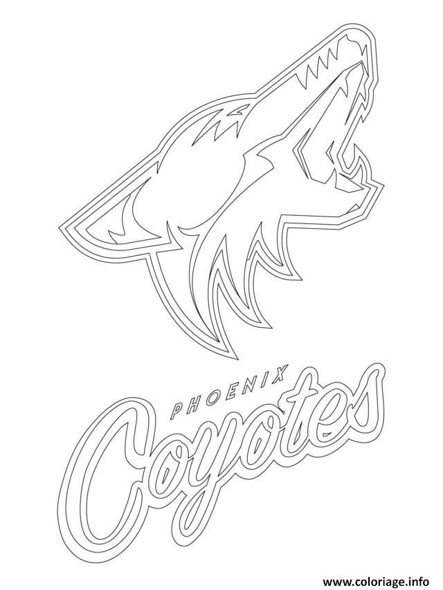 Coloriage phoenix coyotes logo lnh nhl hockey sport dessin - Dessin de coyote ...