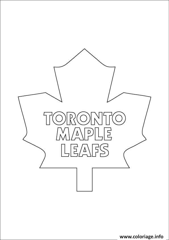 Coloriage toronto maple leafs logo lnh nhl hockey sport dessin