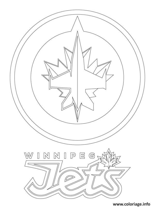 Coloriage Winnipeg Jets Logo Lnh Nhl Hockey Sport Dessin