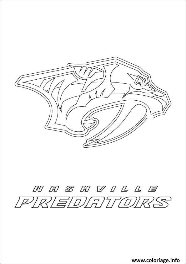 Coloriage Nashville Predators Logo Lnh Nhl Hockey Sport Dessin