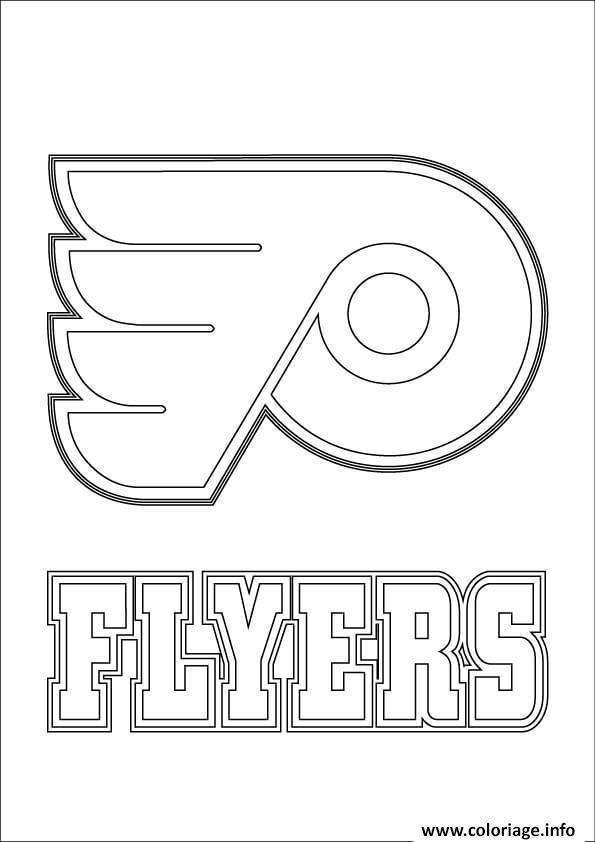Coloriage Philadelphia Flyers Logo Lnh Nhl Hockey Sport