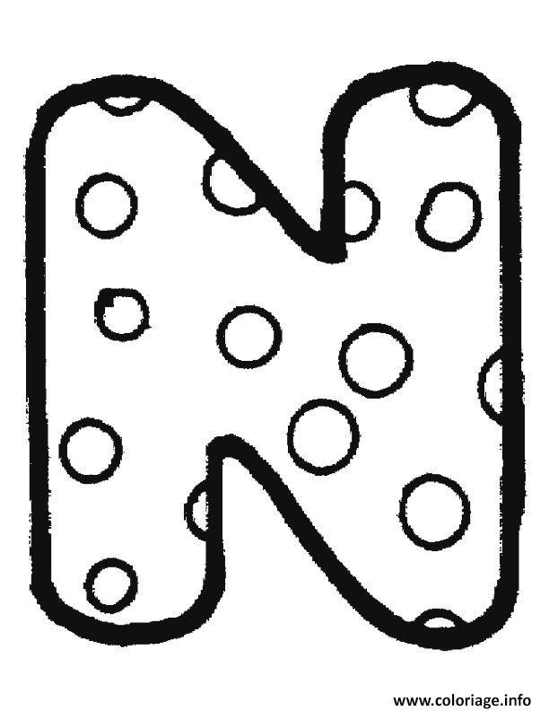 coloriage alphabet maternelle n dessin