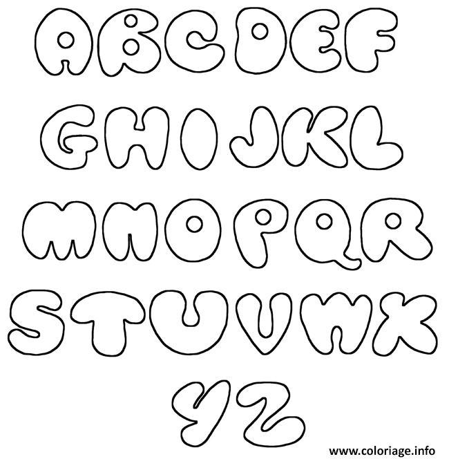 Coloriage alphabet maternelles cp complet simple dessin - Dessin alphabet ...