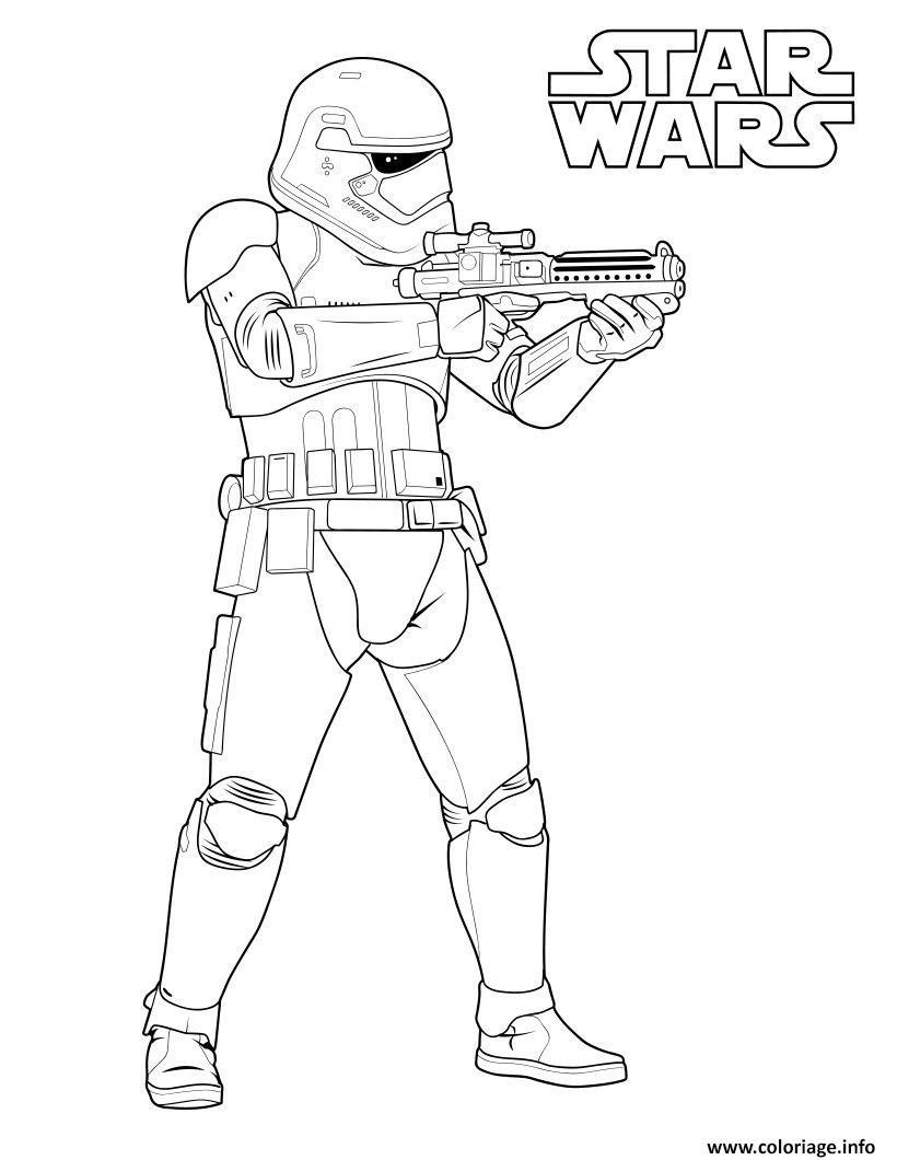 Dessin stormtrooper star wars 7 Coloriage Gratuit à Imprimer