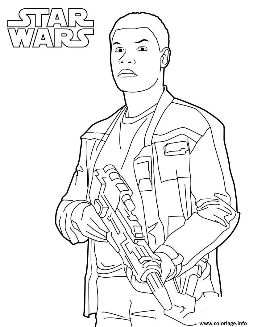 Coloriage finn star wars 7 dessin - Star wars gratuit ...
