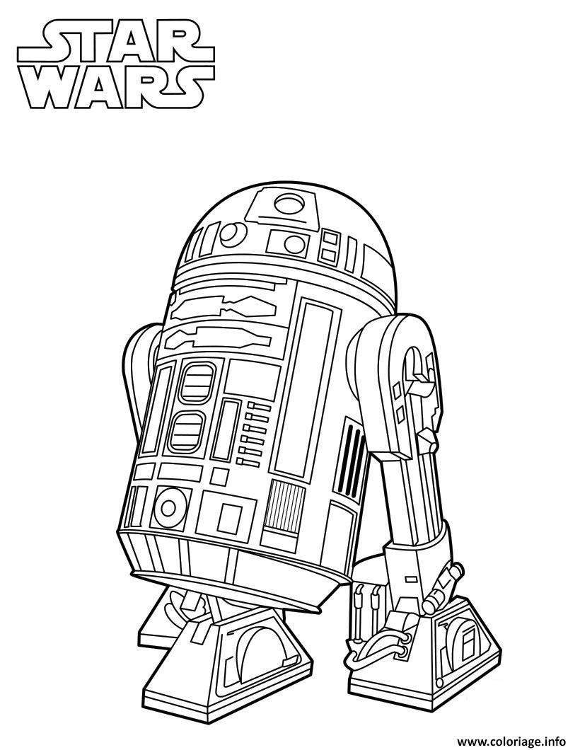 Coloriage R2d2 Star Wars 7 Dessin