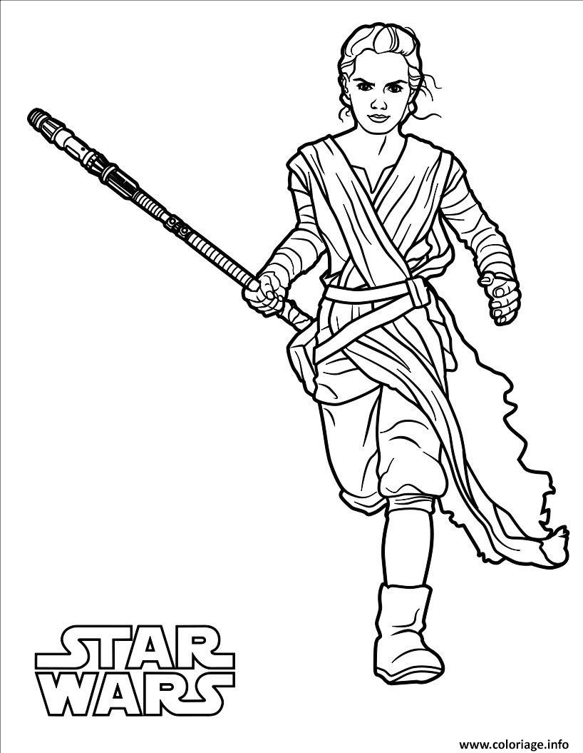 Coloriage rey star wars 7 dessin - Star wars gratuit ...