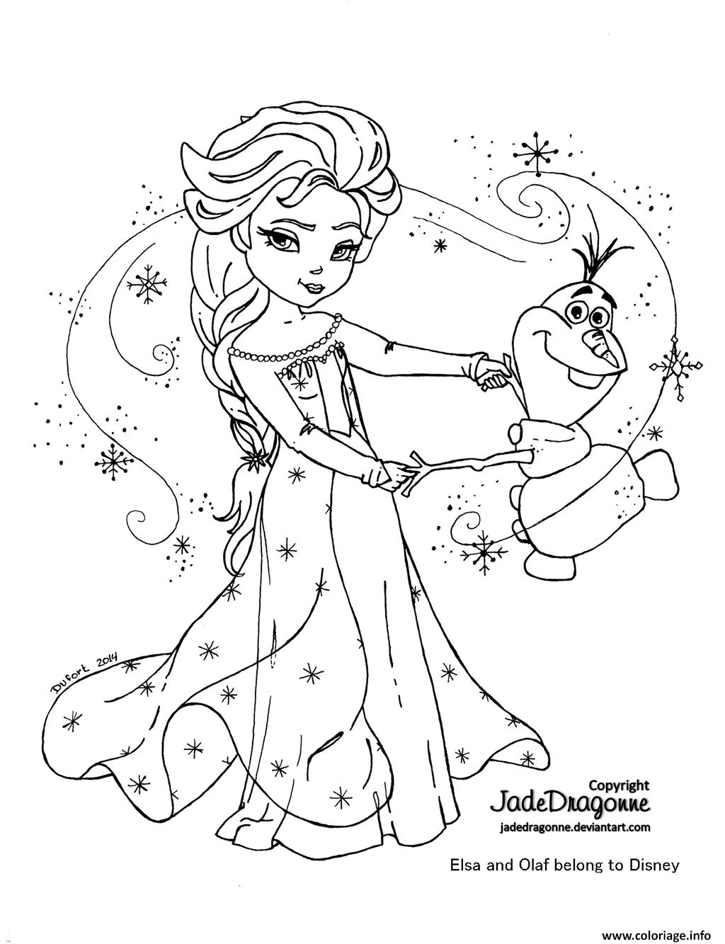 coloriage elsa et olaf dessin imprimer - Dessin Elsa