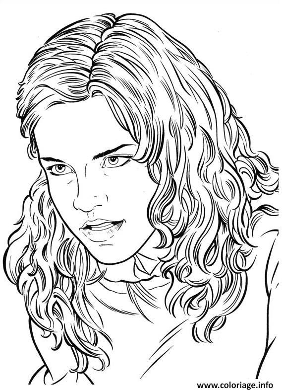 Coloriage hermione harry potter - Dessin harry potter facile ...