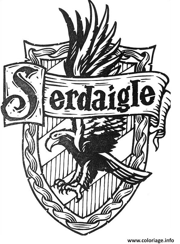 Coloriage blason de serdaigle harry potter dessin - Coloriage harry potter ...