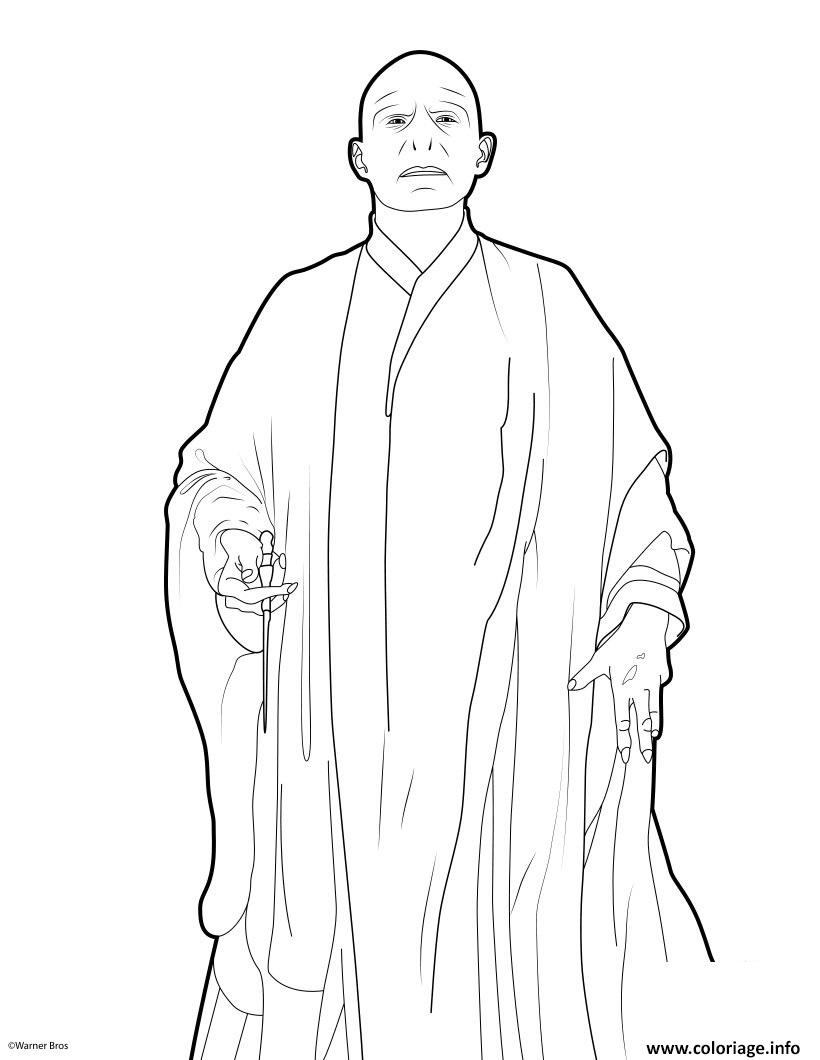 Coloriage En Ligne Harry Potter Gratuit.Coloriage Harry Potter 7 Voldemort Dessin