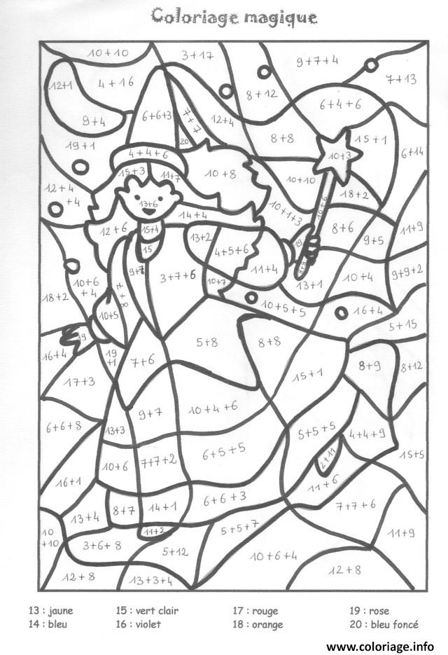 Coloriage magique ce1 ce2 addition 3 dessin - Coloriage magique addition ce1 a imprimer ...