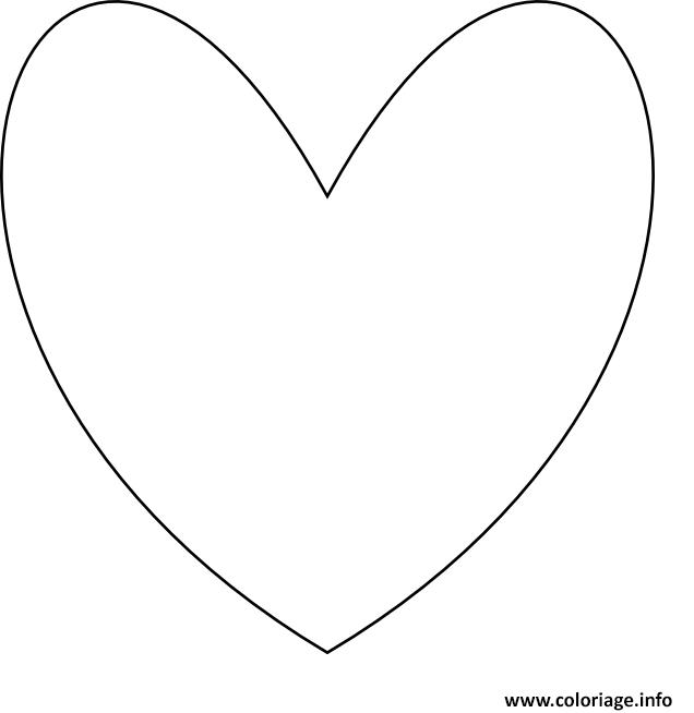 Coloriage coeur emoji emoticon dessin - Coeur a imprimer gratuitement ...
