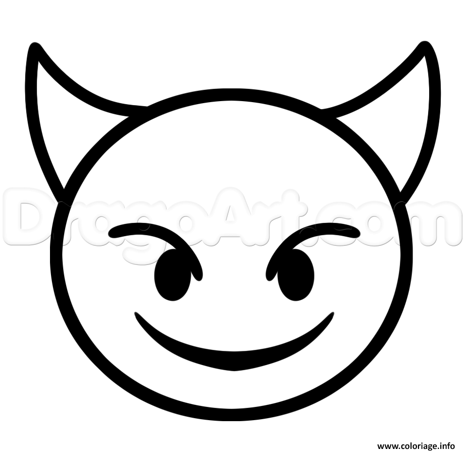 coloriage diable emoji iphone - Emoji Iphone Gratuit