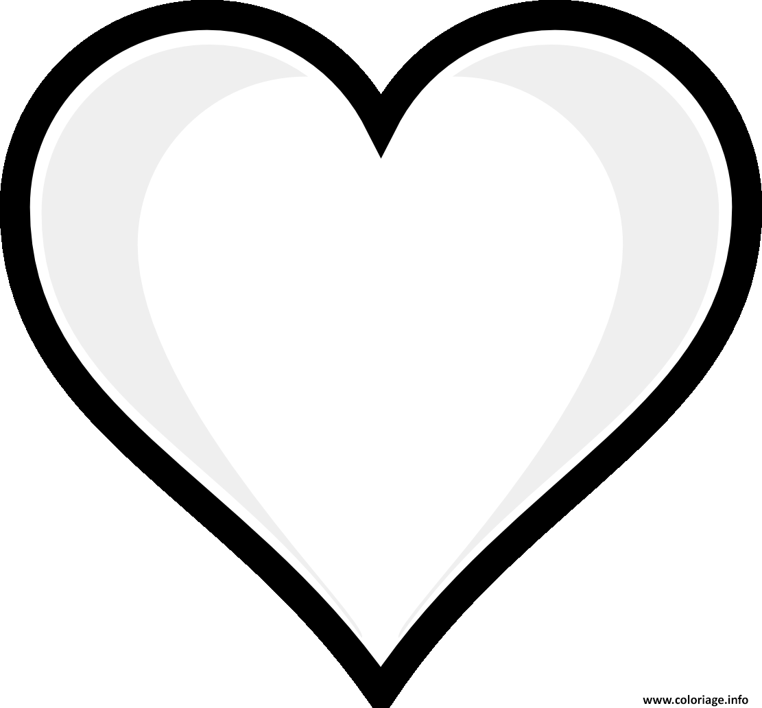 Coloriage imprime emoji coeur - Image de coeur a colorier ...