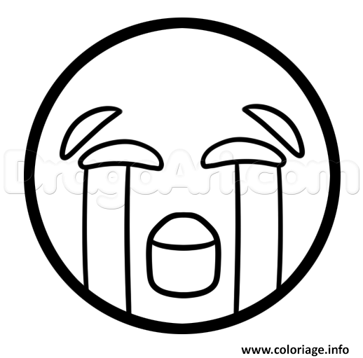 Coloriage Comment Dessiner The Crying Laughing Emoji Jecolorie Com