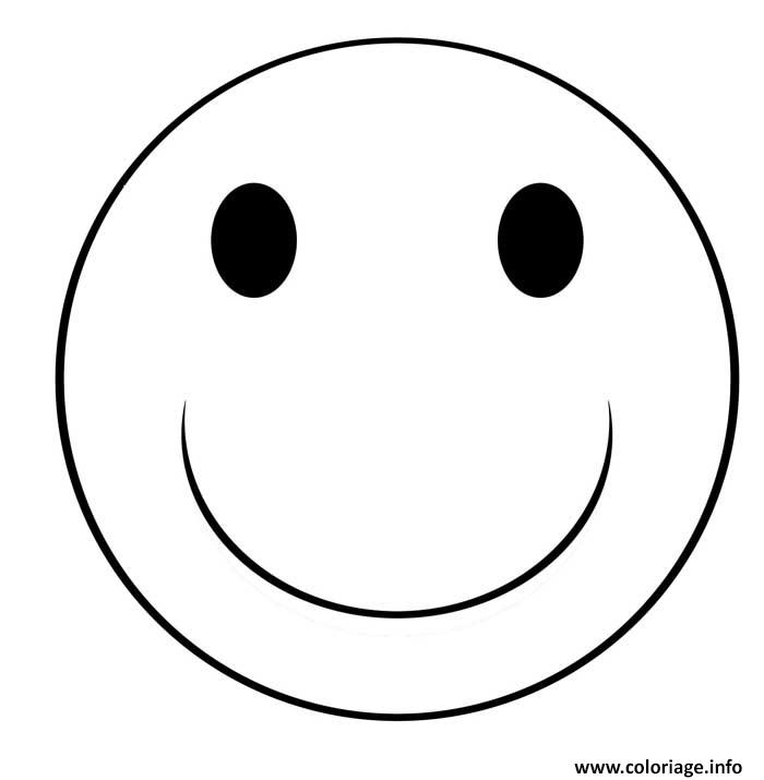 Coloriage smiley sourire - Coloriage de smiley ...
