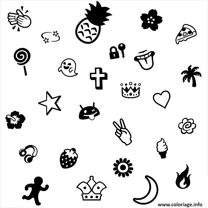 Coloriage emoji cool dessin - Image de smiley a imprimer ...