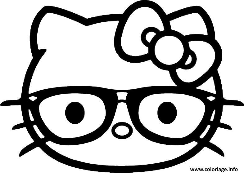 Coloriage Hello Kitty Emoji Jecolorie Com