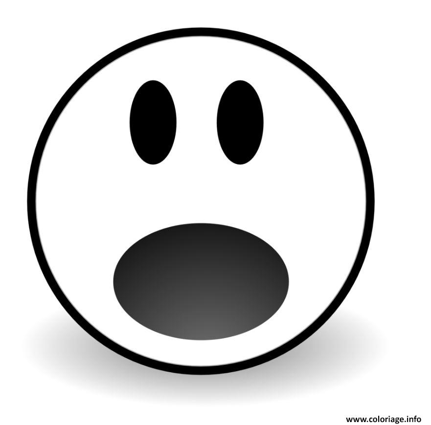 Dessin emoji waw Coloriage Gratuit à Imprimer