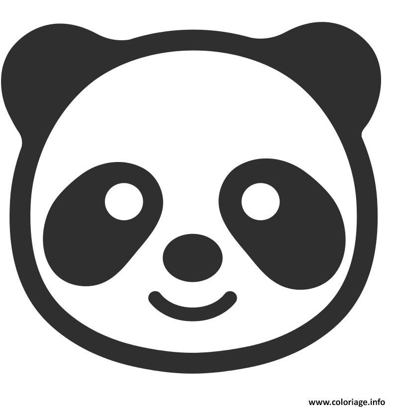 Coloriage Panda Emoji Dessin