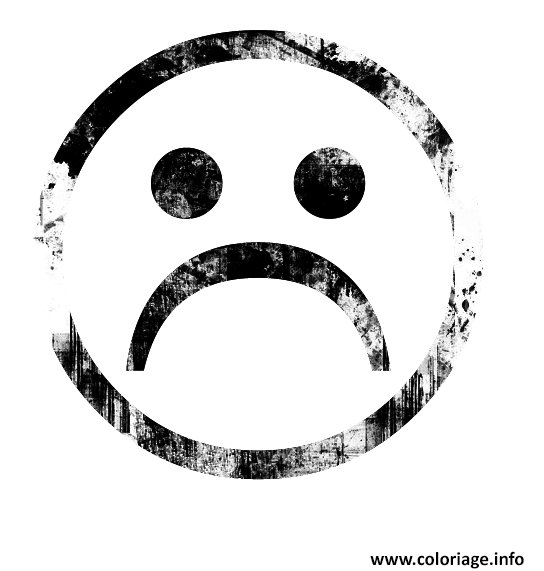 Emoji coloring coloring pages - Dessin triste ...