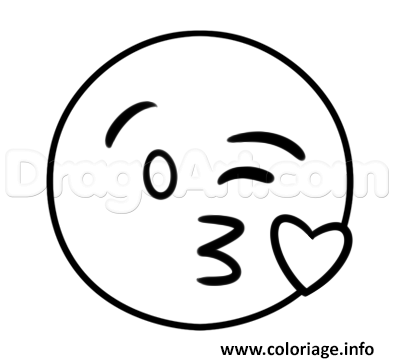 Coloriage smiley amoureux coeur dessin - Coloriage de smiley ...