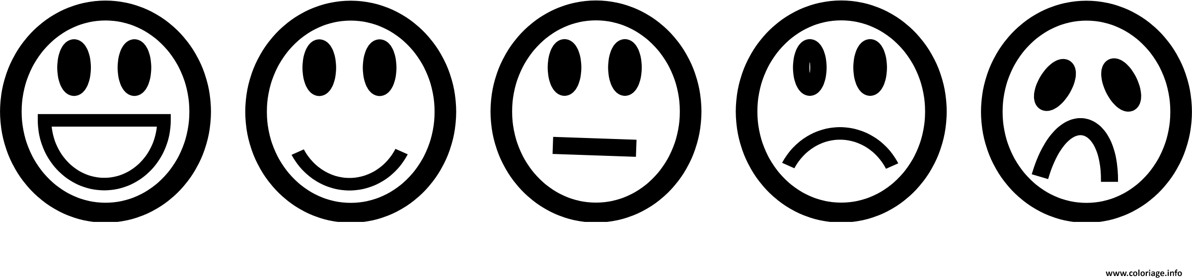 Coloriage Emoji List Sourire Triste Happy Dessin