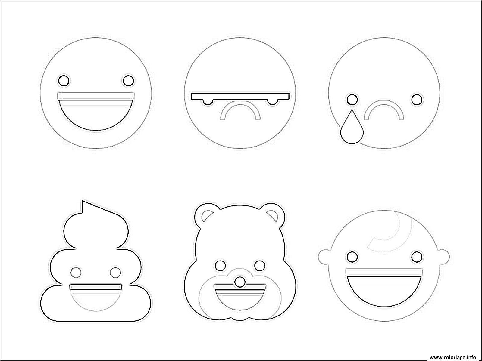 Coloriage Emoji A Imprimer