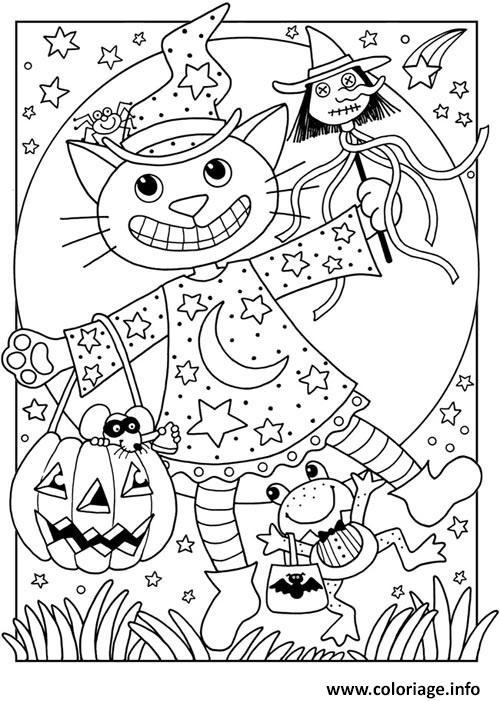 Dessin chat halloween enfant Coloriage Gratuit à Imprimer
