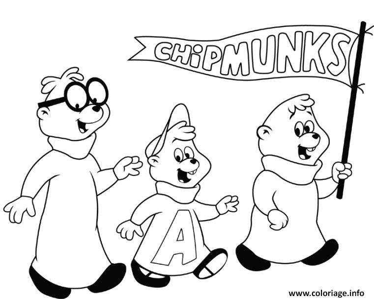 Dessin alvin and the chipmunks halloween Coloriage Gratuit à Imprimer