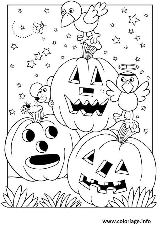 Coloriage Citrouille Halloween Gratuit dessin
