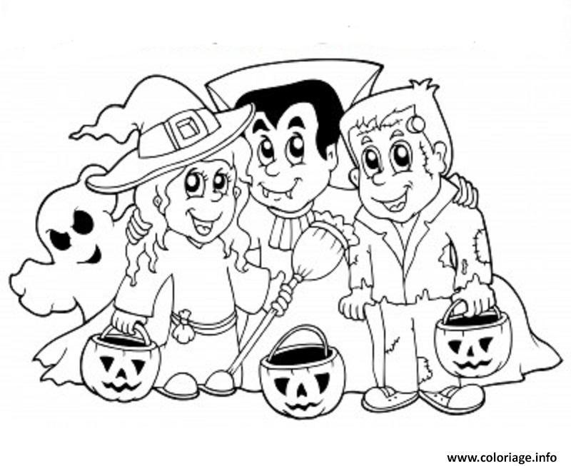 Coloriage Halloween Dessin Dessin Halloween à imprimer