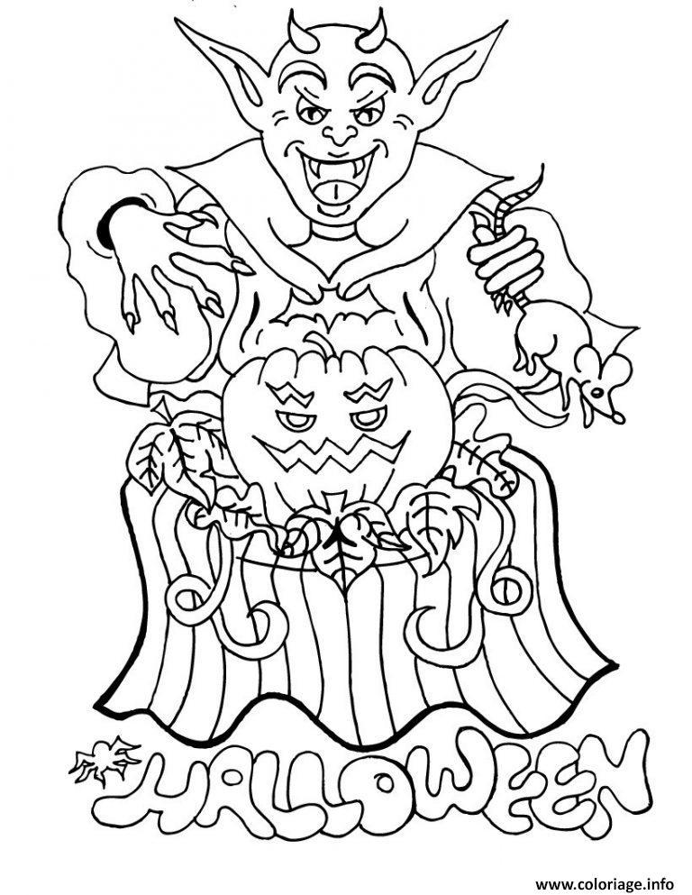 Coloriage demon halloween citrouille - Citrouille a imprimer gratuit ...